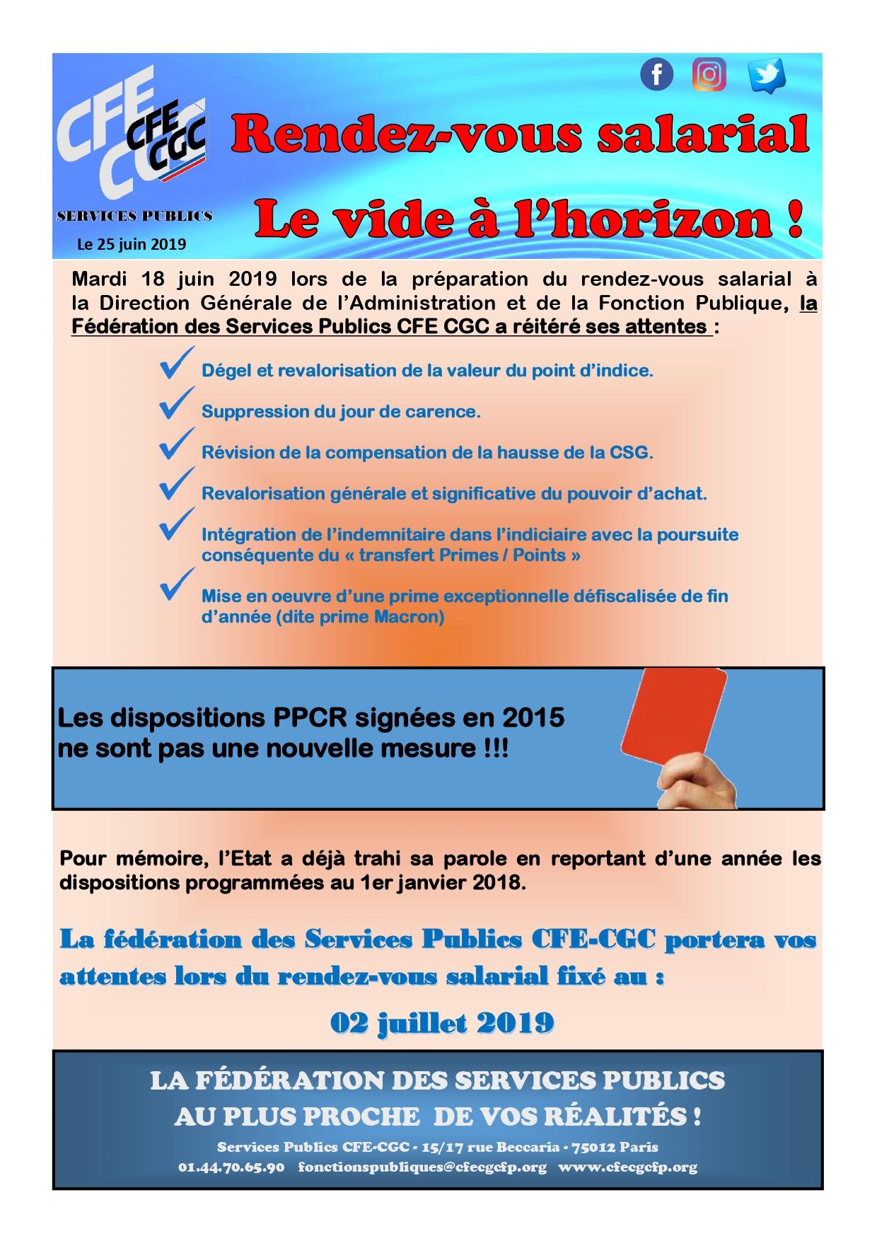 Communication de la Fédération des Services Publics – CFE